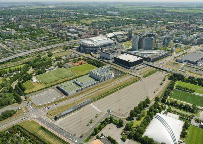Amsterdam: pilot tijdelijke weg bij ArenA